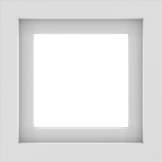 WDMA 18x18 (17.5 x 17.5 inch) Vinyl uPVC White Picture Window without Grids-1