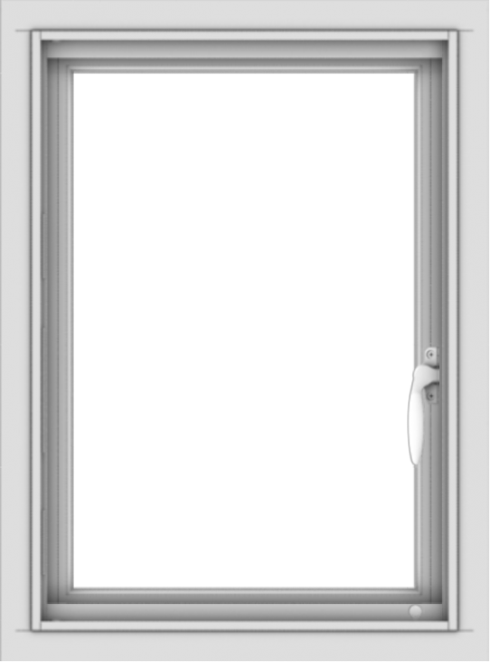 WDMA 18x24 (17.5 x 23.5 inch) Vinyl uPVC White Push out Casement Window without Grids Interior
