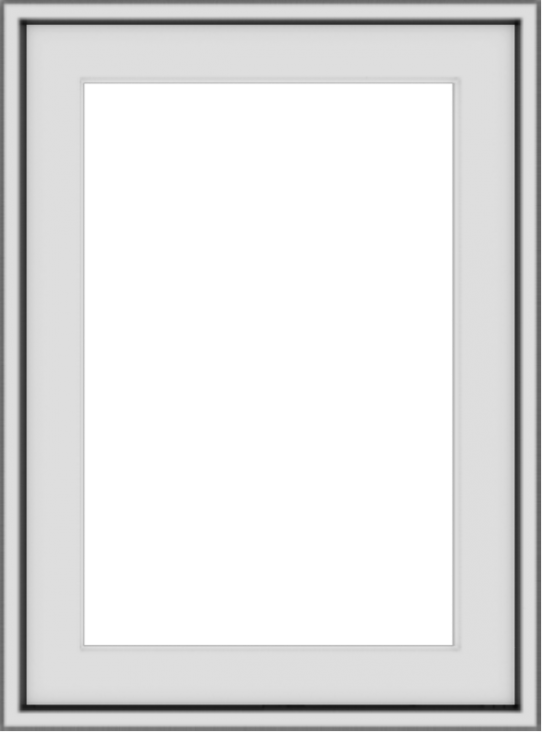 WDMA 18x24 (17.5 x 23.5 inch) Vinyl uPVC White Push out Casement Window without Grids Exterior