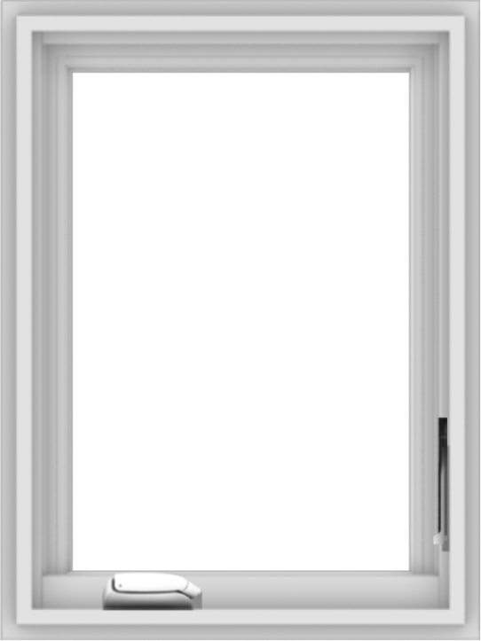 WDMA 18x24 (17.5 x 23.5 inch) White Vinyl uPVC Crank out Casement Window without Grids Interior