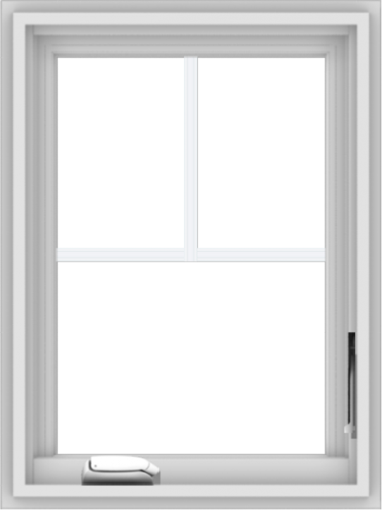 WDMA 18x24 (17.5 x 23.5 inch) White Vinyl uPVC Crank out Casement Window with Fractional Grilles