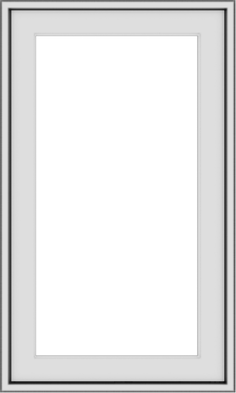 WDMA 18x30 (17.5 x 29.5 inch) Vinyl uPVC White Push out Casement Window without Grids Exterior
