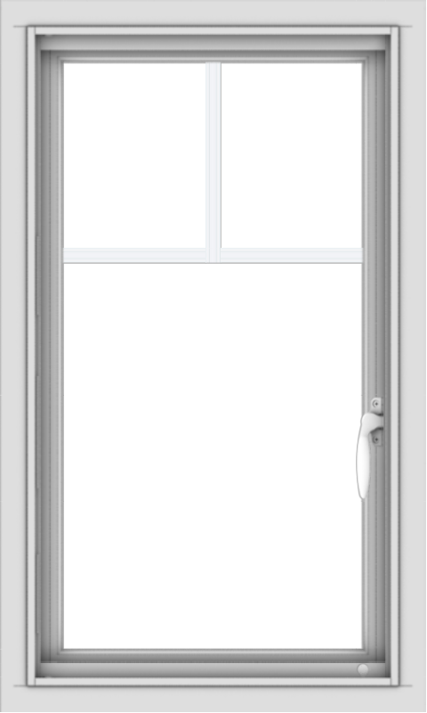 WDMA 18x30 (17.5 x 29.5 inch) Vinyl uPVC White Push out Casement Window with Fractional Grilles