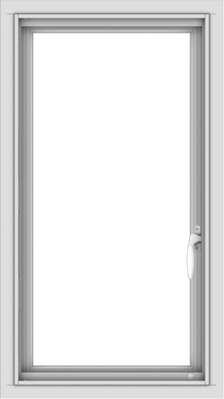 WDMA 18x32 (17.5 x 31.5 inch) Vinyl uPVC White Push out Casement Window without Grids Interior