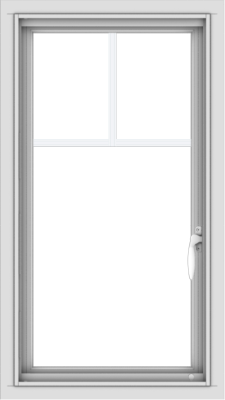 WDMA 18x32 (17.5 x 31.5 inch) Vinyl uPVC White Push out Casement Window with Fractional Grilles