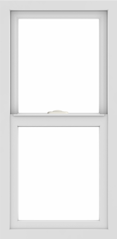 WDMA 18x36 (17.5 x 35.5 inch) Vinyl uPVC White Single Hung Double Hung Window without Grids Interior