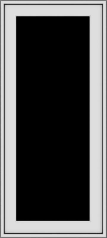 WDMA 18x40 (17.5 x 39.5 inch) Vinyl uPVC White Push out Casement Window without Grids Exterior