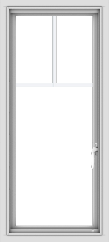 WDMA 18x40 (17.5 x 39.5 inch) Vinyl uPVC White Push out Casement Window with Fractional Grilles