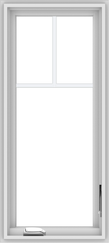 WDMA 18x40 (17.5 x 39.5 inch) White Vinyl uPVC Crank out Casement Window with Fractional Grilles