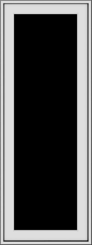 WDMA 18x48 (17.5 x 47.5 inch) uPVC Vinyl White push out Casement Window without Grids Exterior