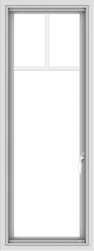 WDMA 18x48 (17.5 x 47.5 inch) uPVC Vinyl White push out Casement Window with Fractional Grilles