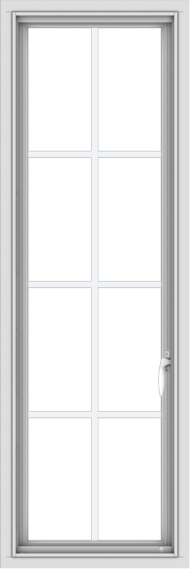 WDMA 18x54 (17.5 x 53.5 inch) uPVC Vinyl White push out Casement Window with Colonial Grids