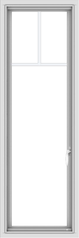 WDMA 18x54 (17.5 x 53.5 inch) uPVC Vinyl White push out Casement Window with Fractional Grilles