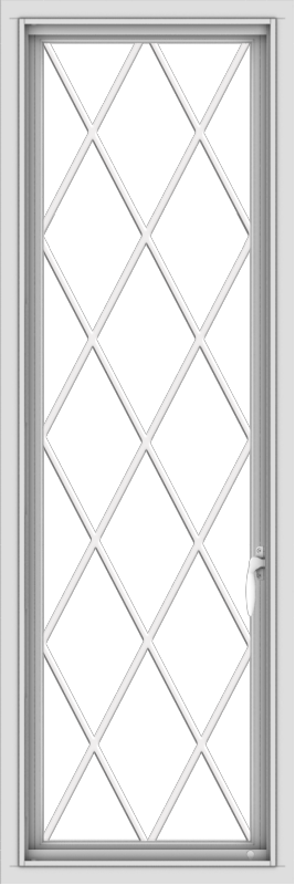 WDMA 18x54 (17.5 x 53.5 inch) uPVC Vinyl White push out Casement Window without Grids with Diamond Grills