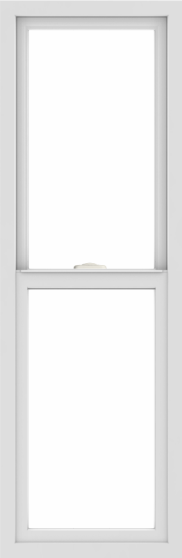 WDMA 18x54 (17.5 x 53.5 inch) Vinyl uPVC White Single Hung Double Hung Window without Grids Interior