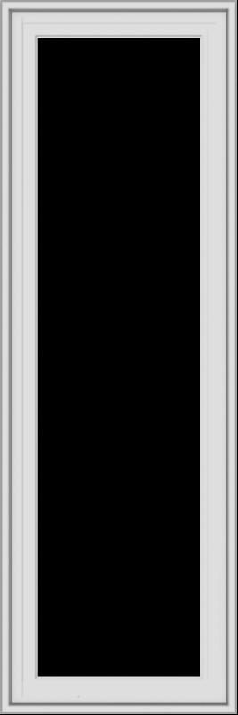 WDMA 18x54 (17.5 x 53.5 inch) White Vinyl uPVC Crank out Casement Window without Grids Exterior