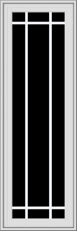 WDMA 18x54 (17.5 x 53.5 inch) White Vinyl uPVC Crank out Casement Window with Prairie Grilles