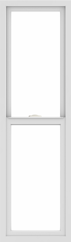 WDMA 18x60 (17.5 x 59.5 inch) Vinyl uPVC White Single Hung Double Hung Window without Grids Interior