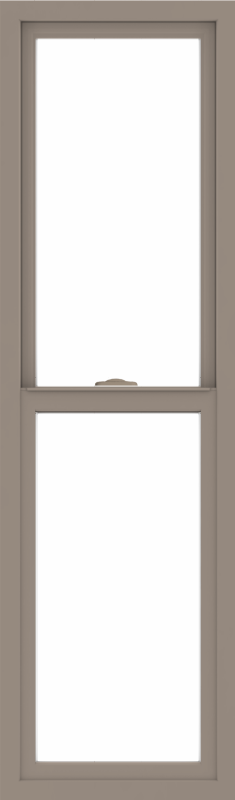 WDMA 18x60 (17.5 x 59.5 inch) Vinyl uPVC Brown Single Hung Double Hung Window without Grids Interior