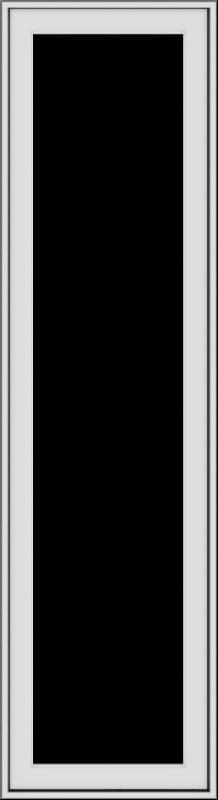 WDMA 18x66 (17.5 x 65.5 inch) White Vinyl uPVC Push out Casement Window without Grids Exterior
