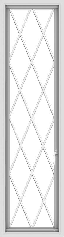 WDMA 18x66 (17.5 x 65.5 inch) White Vinyl uPVC Push out Casement Window without Grids with Diamond Grills
