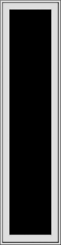 WDMA 18x72 (17.5 x 71.5 inch) White Vinyl uPVC Push out Casement Window without Grids Exterior