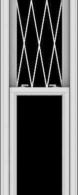 WDMA 20x102 (19.5 x 101.5 inch)  Aluminum Single Double Hung Window with Diamond Grids