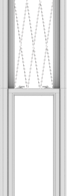 WDMA 20x120 (19.5 x 119.5 inch)  Aluminum Single Double Hung Window with Diamond Grids