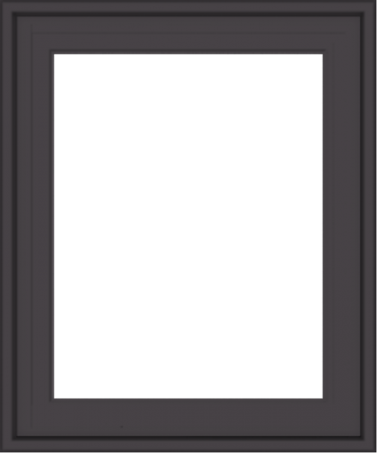 WDMA 20x24 (19.5 x 23.5 inch) Pine Wood Dark Grey Aluminum Crank out Casement Window without Grids Exterior