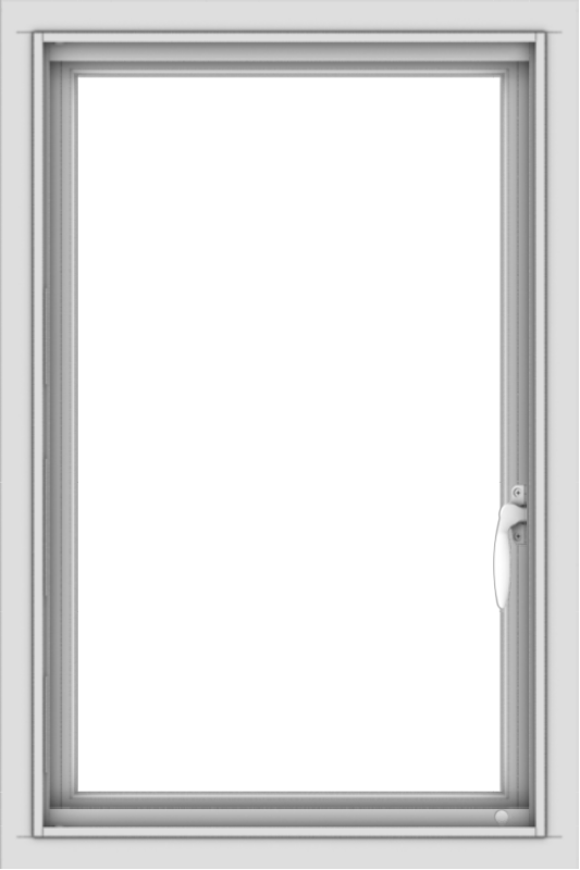 WDMA 20x30 (19.5 x 29.5 inch) Vinyl uPVC White Push out Casement Window without Grids Interior