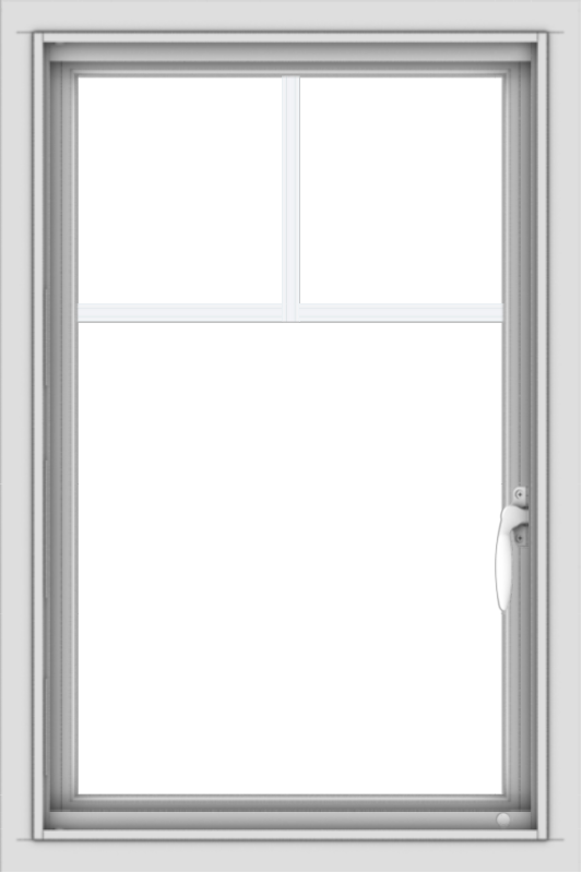 WDMA 20x30 (19.5 x 29.5 inch) Vinyl uPVC White Push out Casement Window with Fractional Grilles