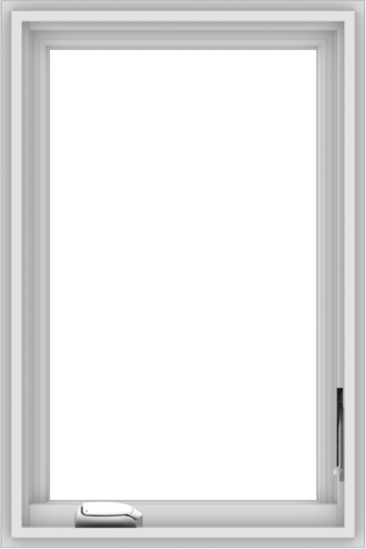 WDMA 20x30 (19.5 x 29.5 inch) White Vinyl uPVC Crank out Casement Window without Grids Interior