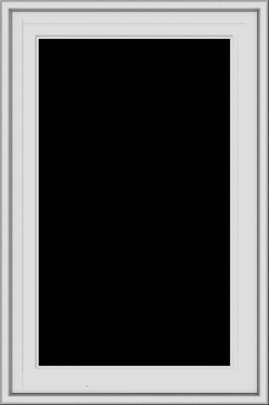 WDMA 20x30 (19.5 x 29.5 inch) White Vinyl uPVC Crank out Casement Window without Grids Exterior