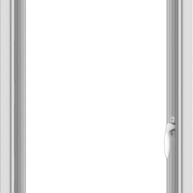 WDMA 20x32 (19.5 x 31.5 inch) Vinyl uPVC White Push out Casement Window without Grids Interior