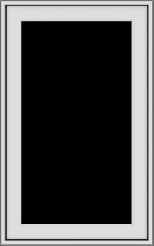 WDMA 20x32 (19.5 x 31.5 inch) Vinyl uPVC White Push out Casement Window without Grids Exterior