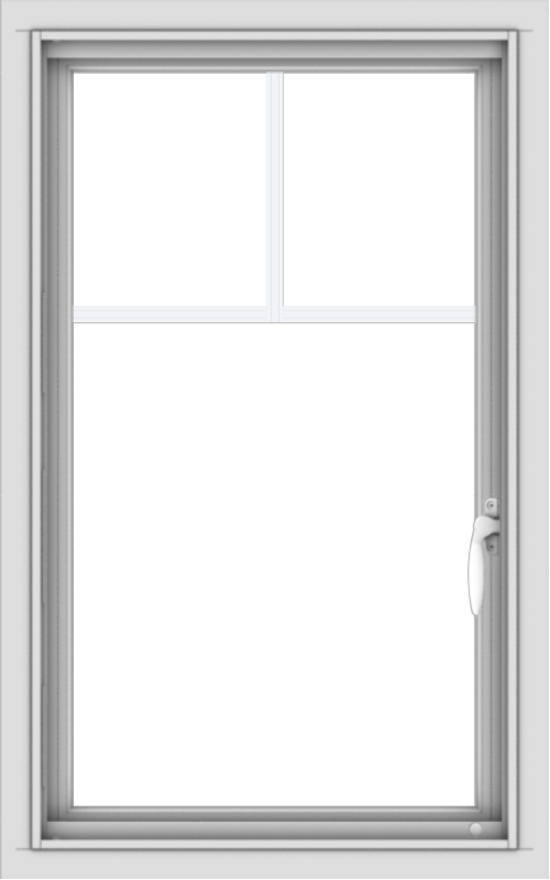 WDMA 20x32 (19.5 x 31.5 inch) Vinyl uPVC White Push out Casement Window with Fractional Grilles