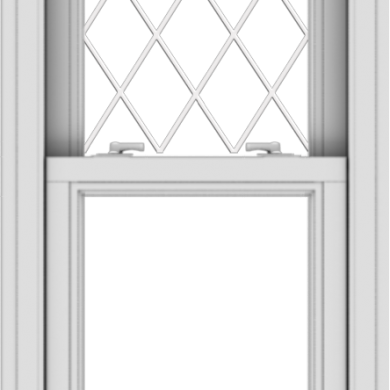 WDMA 20x36 (19.5 x 35.5 inch)  Aluminum Single Double Hung Window with Diamond Grids