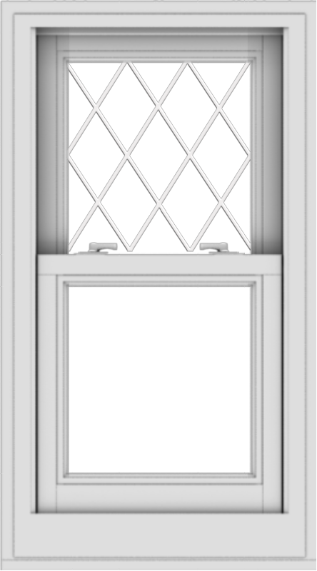 WDMA 20x36 (19.5 x 35.5 inch)  Aluminum Single Double Hung Window with Diamond Grids