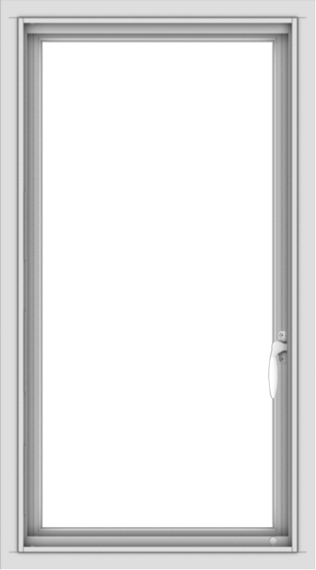 WDMA 20x36 (19.5 x 35.5 inch) Vinyl uPVC White Push out Casement Window without Grids Interior
