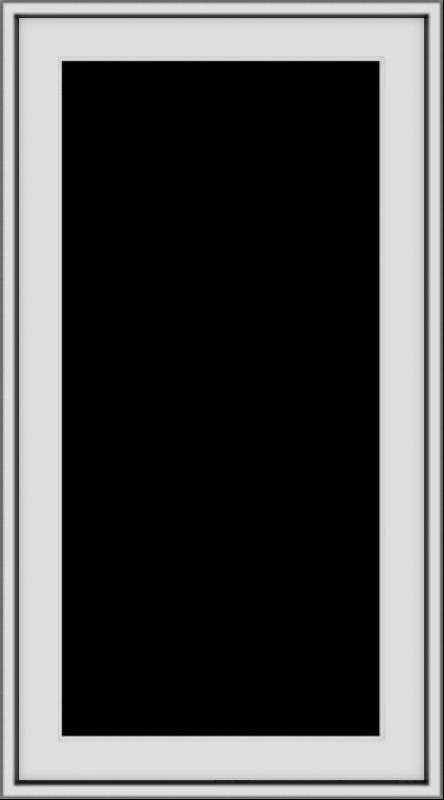 WDMA 20x36 (19.5 x 35.5 inch) Vinyl uPVC White Push out Casement Window without Grids Exterior