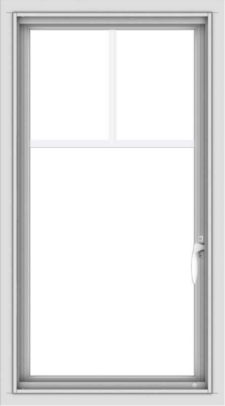 WDMA 20x36 (19.5 x 35.5 inch) Vinyl uPVC White Push out Casement Window with Fractional Grilles