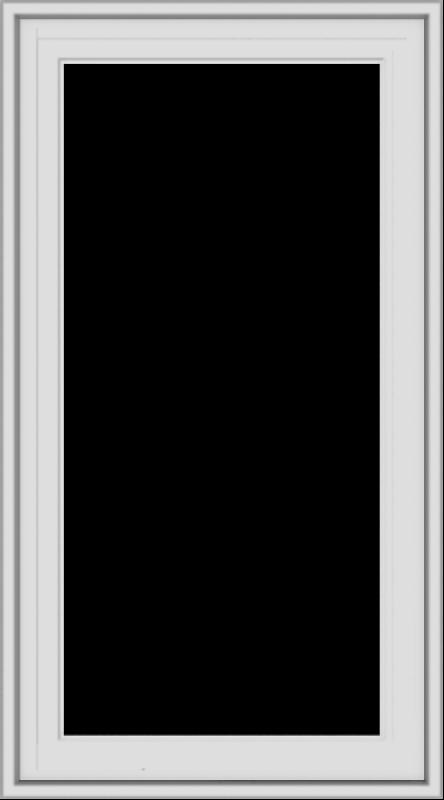 WDMA 20x36 (19.5 x 35.5 inch) White Vinyl uPVC Crank out Casement Window without Grids Exterior