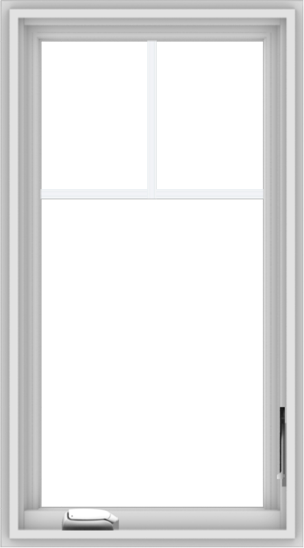 WDMA 20x36 (19.5 x 35.5 inch) White Vinyl uPVC Crank out Casement Window with Fractional Grilles