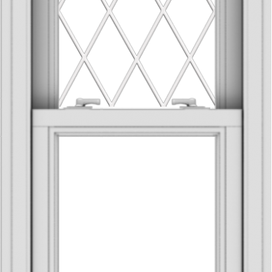 WDMA 20x40 (19.5 x 39.5 inch)  Aluminum Single Double Hung Window with Diamond Grids