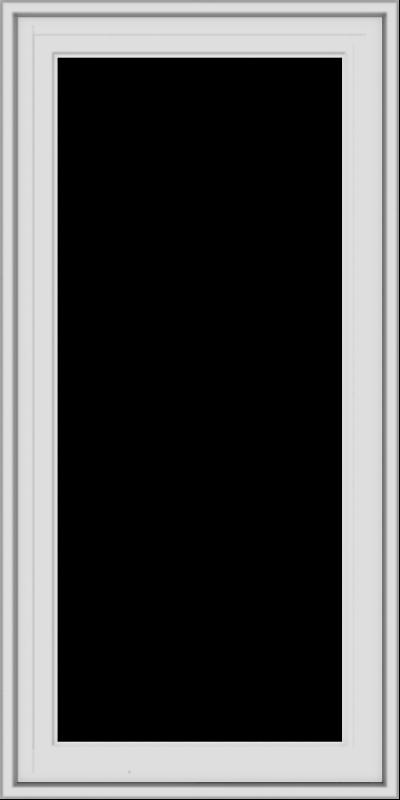 WDMA 20x40 (19.5 x 39.5 inch) White Vinyl uPVC Crank out Casement Window without Grids Exterior