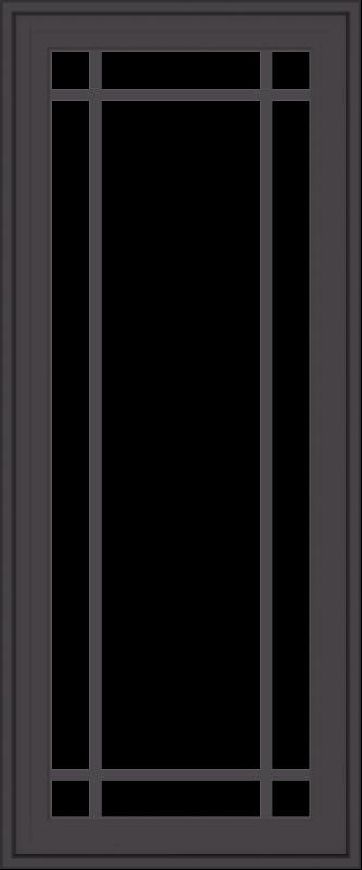 WDMA 20x48 (19.5 x 47.5 inch) Pine Wood Dark Grey Aluminum Crank out Casement Window with Prairie Grilles
