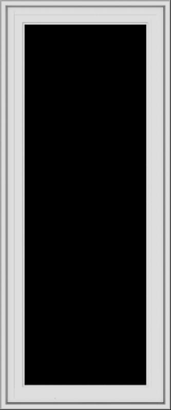 WDMA 20x48 (19.5 x 47.5 inch) White Vinyl uPVC Crank out Casement Window without Grids Exterior