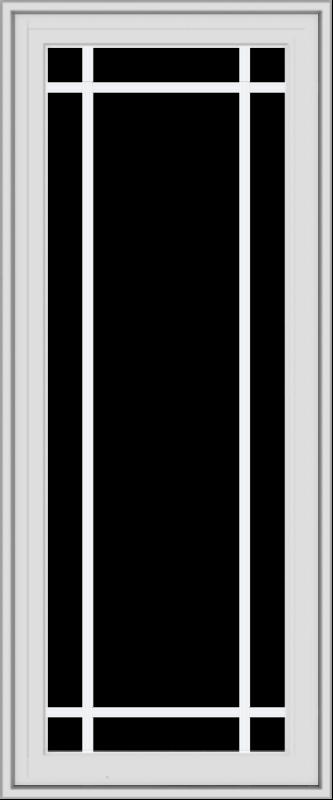 WDMA 20x48 (19.5 x 47.5 inch) White Vinyl uPVC Crank out Casement Window with Prairie Grilles