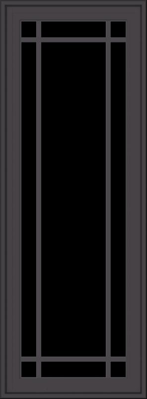WDMA 20x54 (19.5 x 53.5 inch) Pine Wood Dark Grey Aluminum Crank out Casement Window with Prairie Grilles