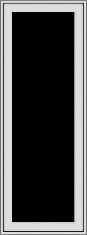 WDMA 20x54 (19.5 x 53.5 inch) uPVC Vinyl White push out Casement Window without Grids Exterior